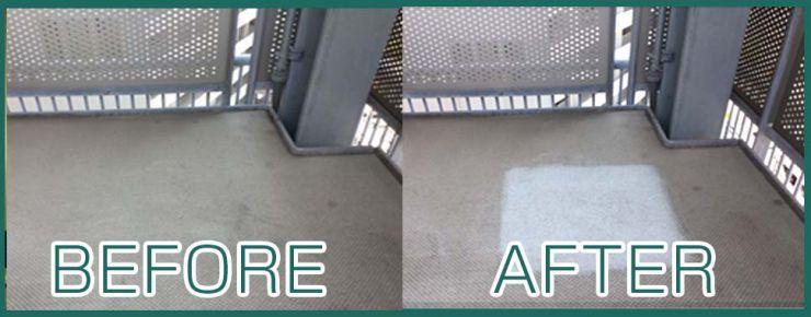 床の油汚れ 施工事例 機械等油汚れ除去、建物全般の油汚れ除去、動物性油汚れ除去・植物性油汚れ除去 油汚れ除去 洗浄マジック 30シリーズ